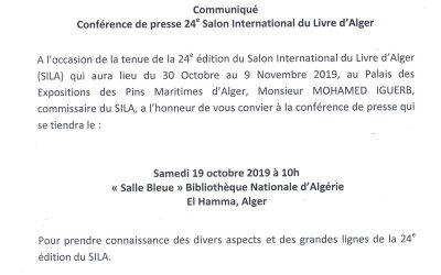 Communiqué Conférence de presse 24ème Sila
